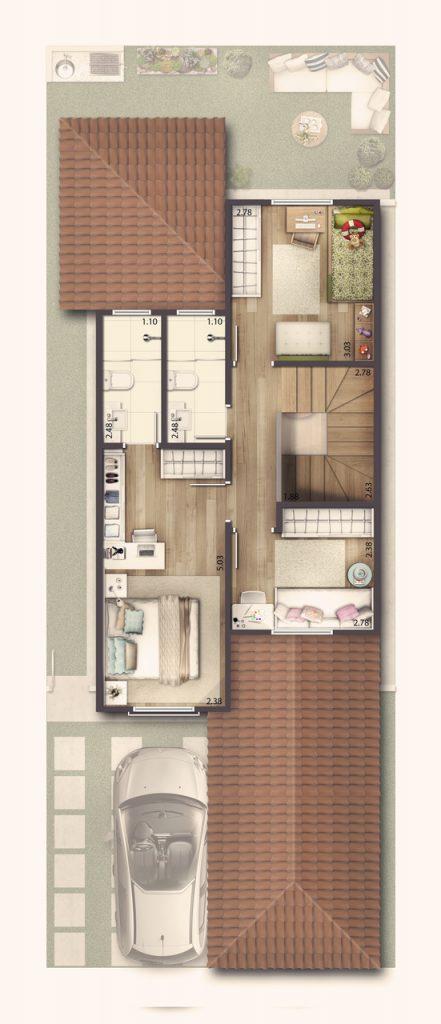 Casa Sobrado 118m² - Superior