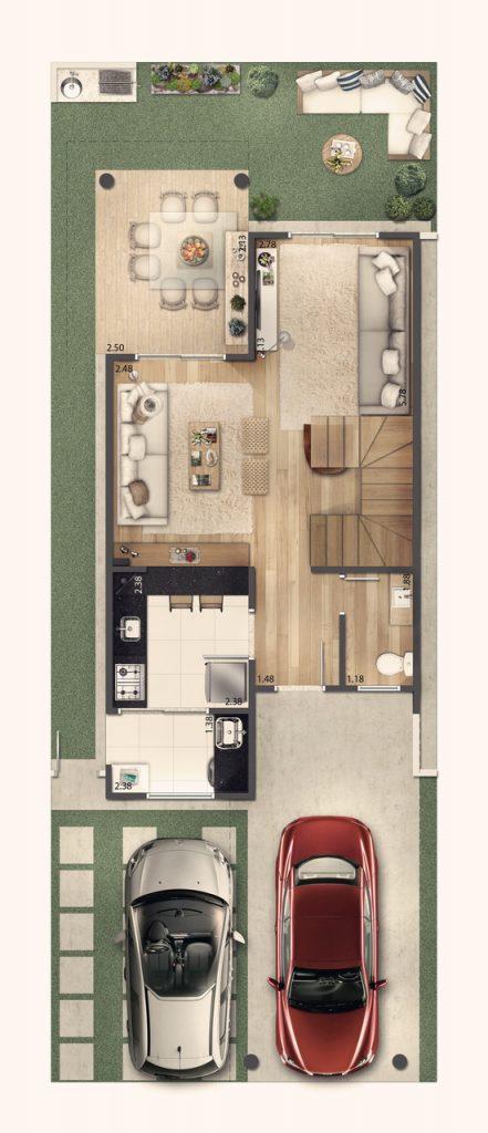 Casa Sobrado 118m² - Terreo