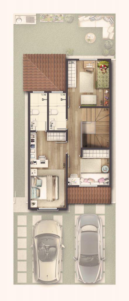 Casa Sobrado 92 m² - Superior