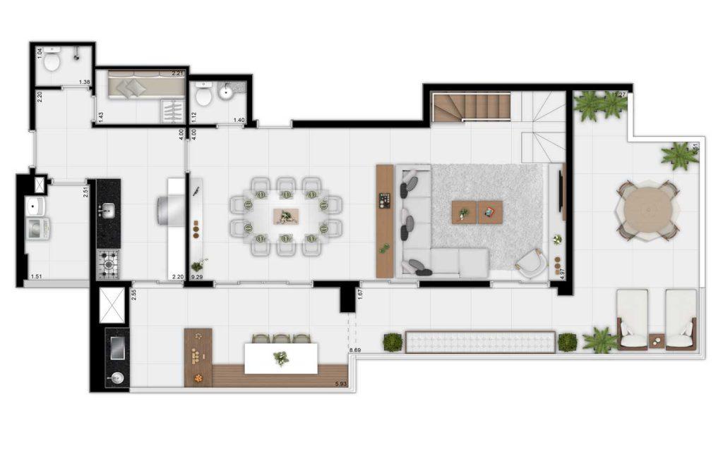207m² - Duplex Inferior