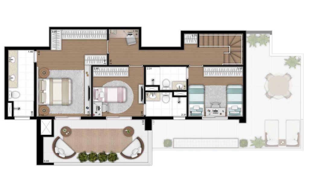 207m² - Duplex Superior