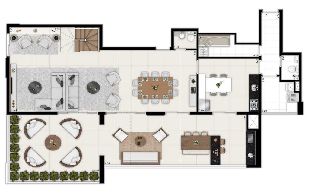 280m² - Duplex Inferior