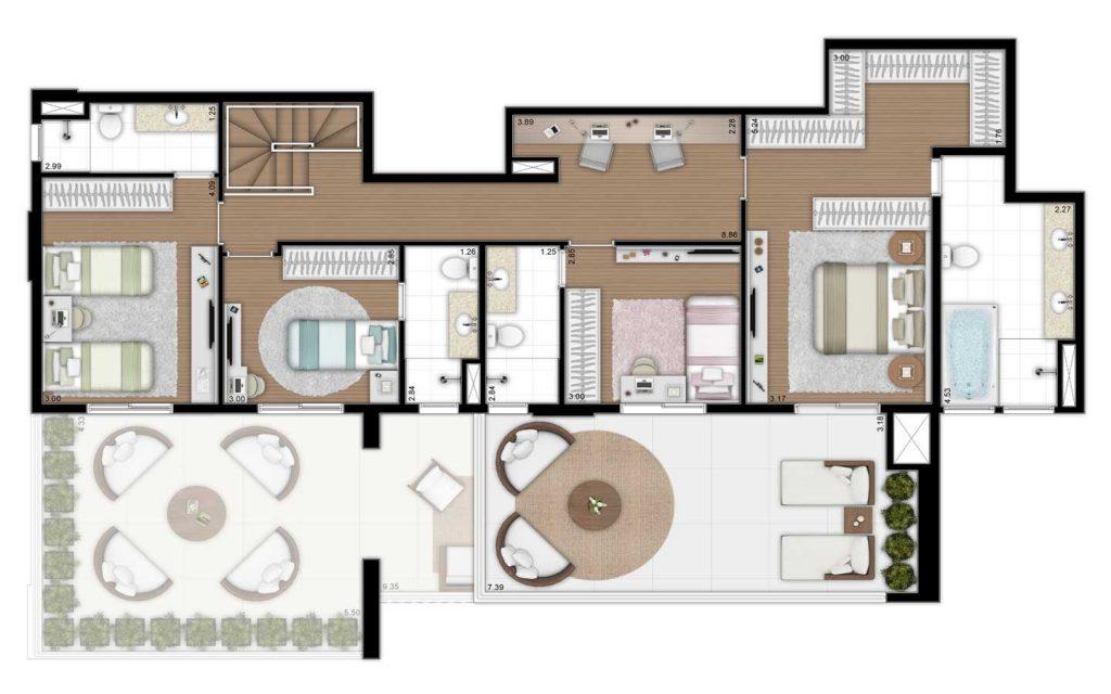 280m² - Duplex Superior