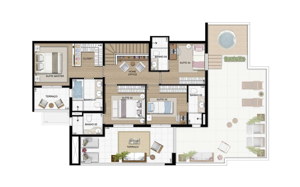 Cobertura Duplex Superior - 238m²