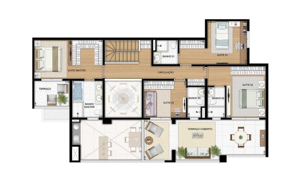 Cobertura Duplex Superior - 264m²