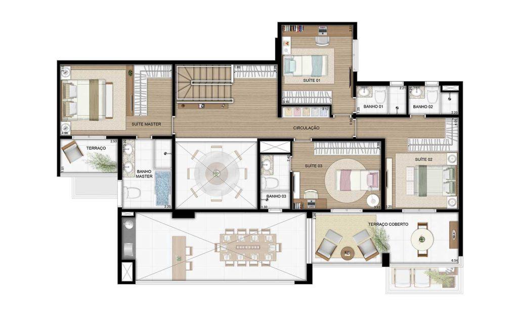 Cobertura Duplex Superior - 289m²