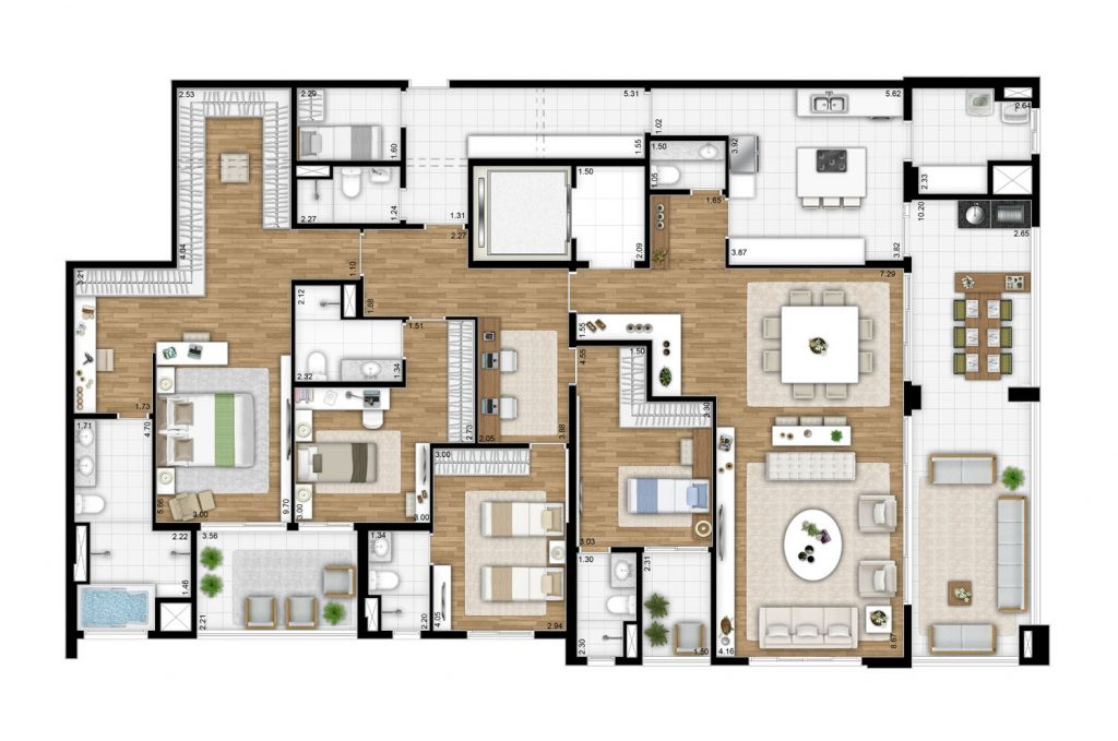 Tipo 268m²