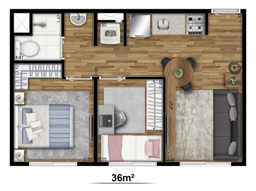 Tipo 36m²