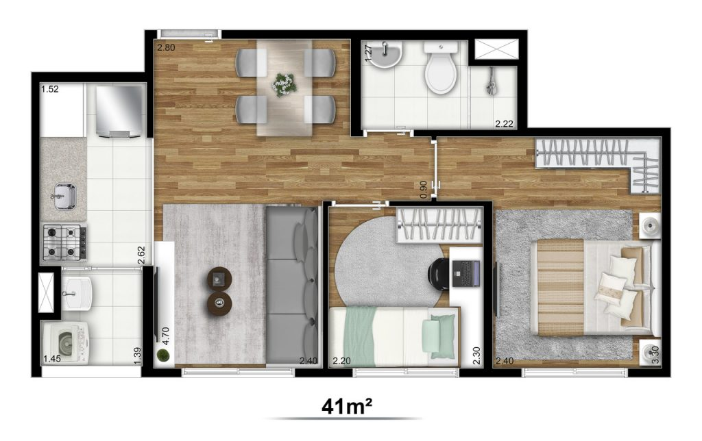Tipo 41m²