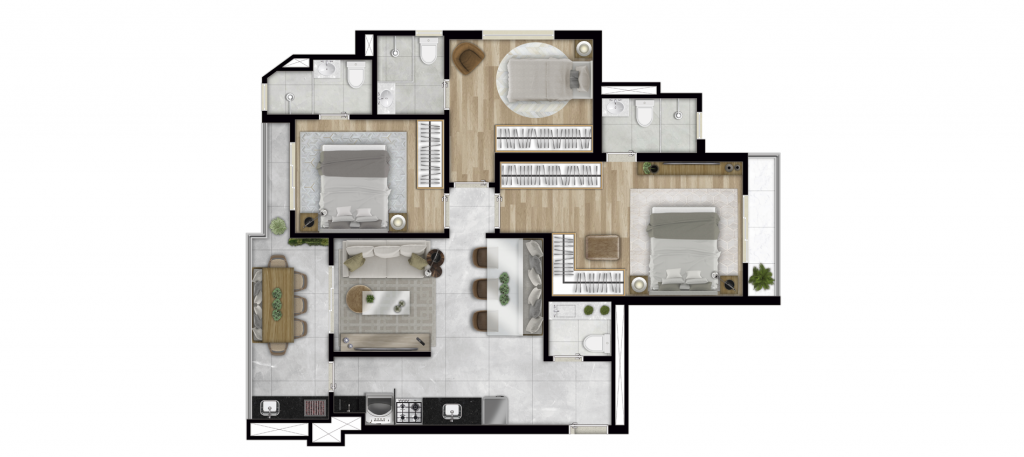 Tipo 83m²