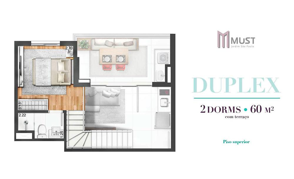 Duplex 60m² - Superior