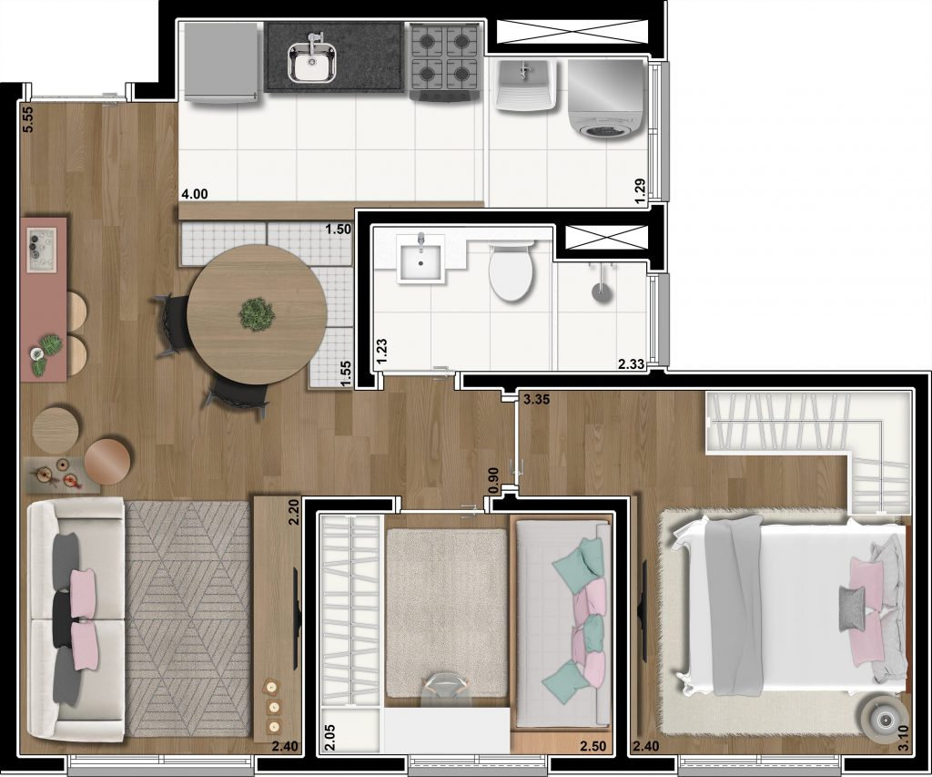 Tipo 43m²