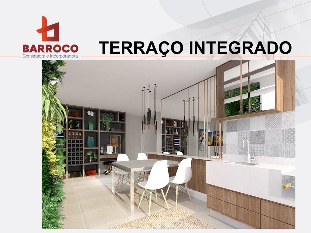 Terraço integrado
