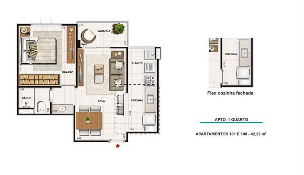 Tipo 42m²