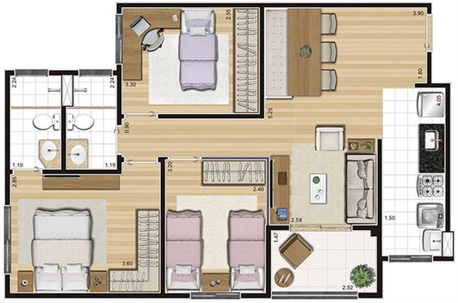 Tipo - 70,15m²