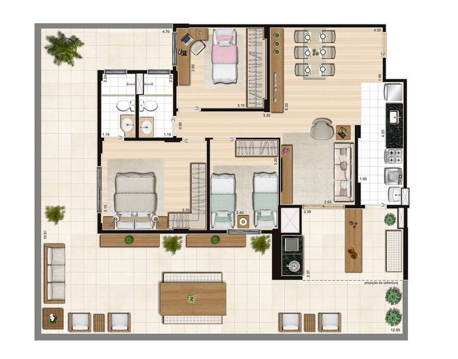 Tipo Living - 83,40m²