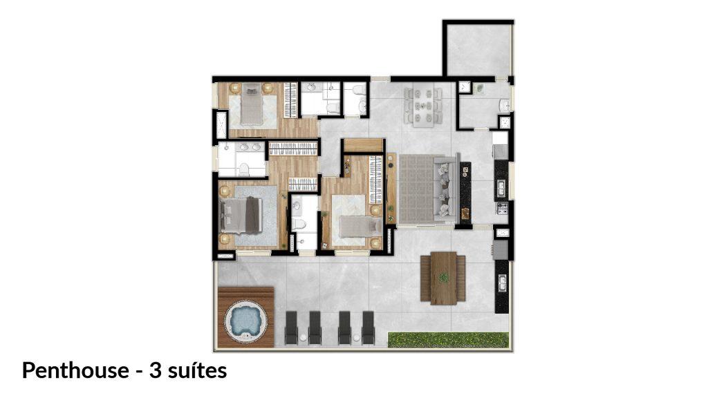 Penthouse - 3 suítes