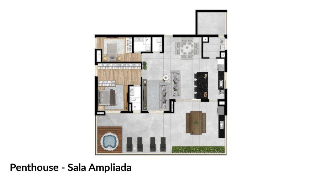Penthouse - Sala ampliada