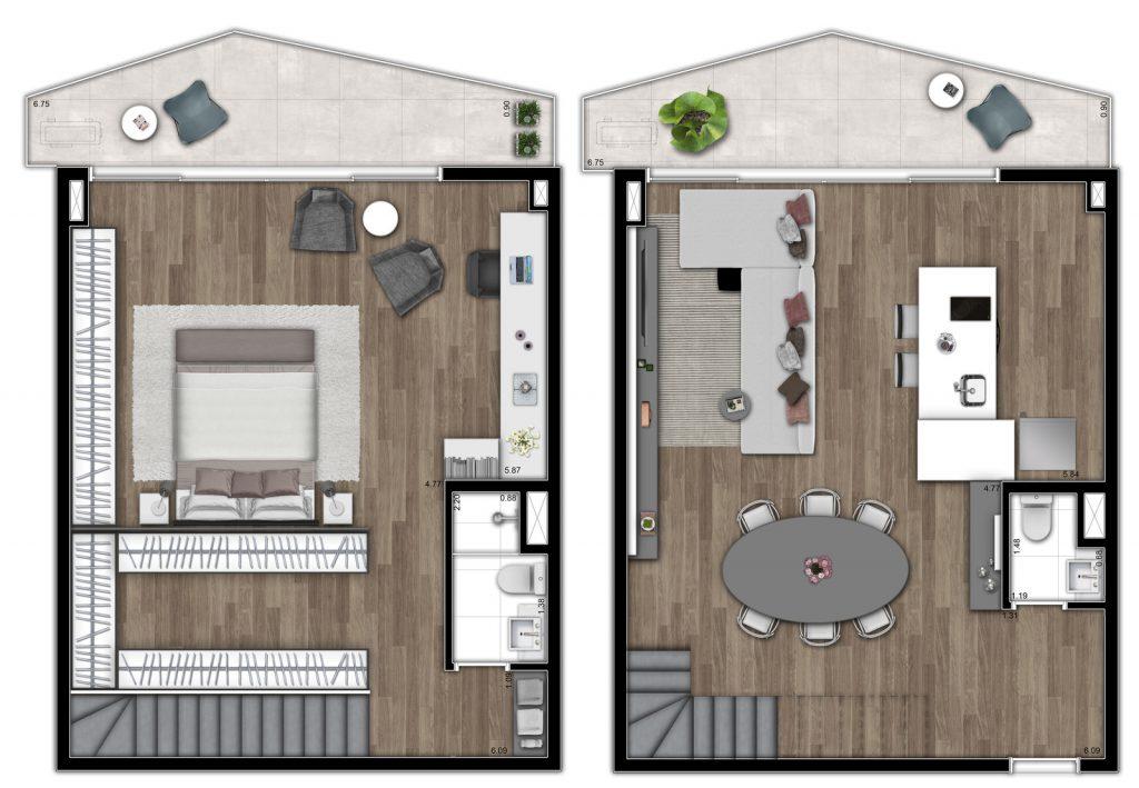 Duplex 113m²