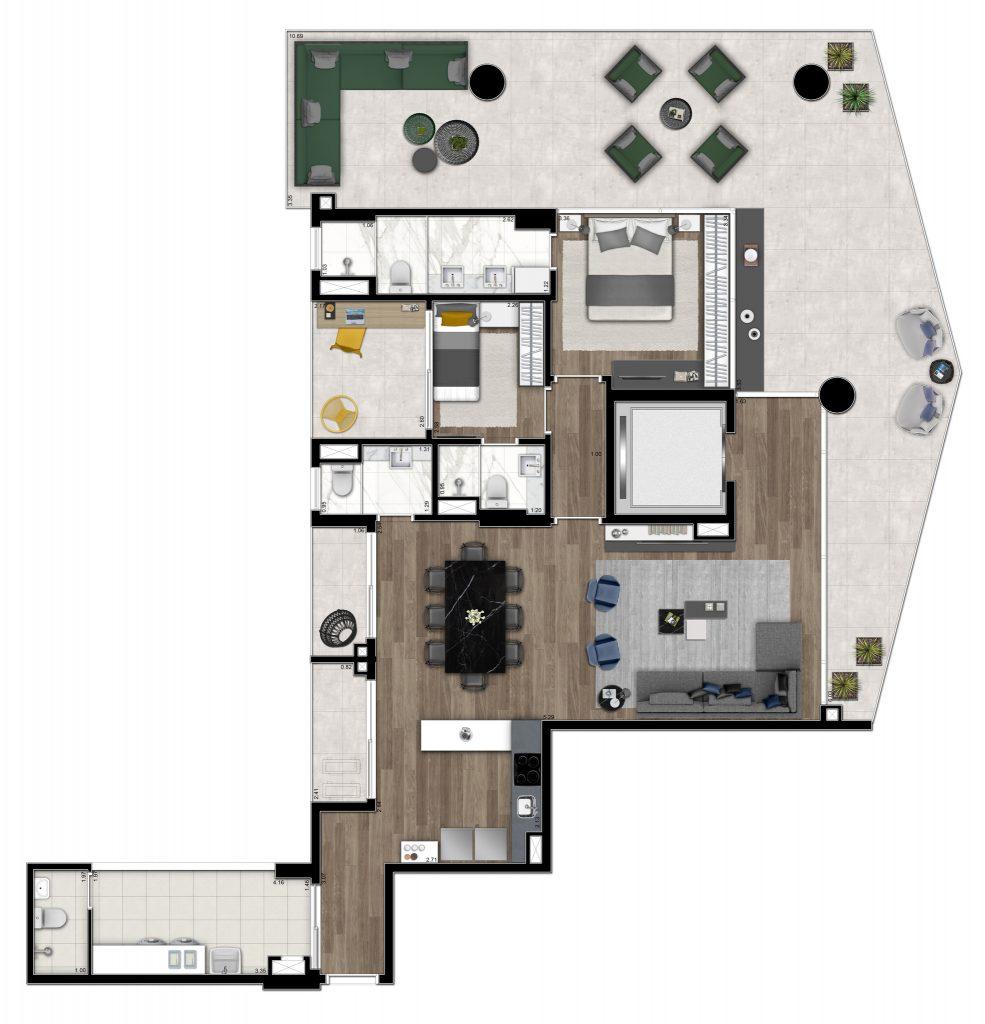2 suites 176m²