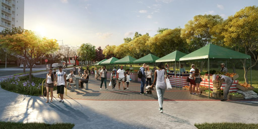 Parque linear feira organica