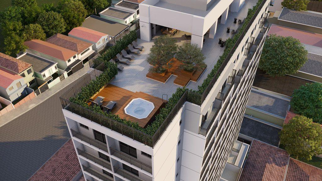 Perspectiva Ilustrada Vôo Rooftop