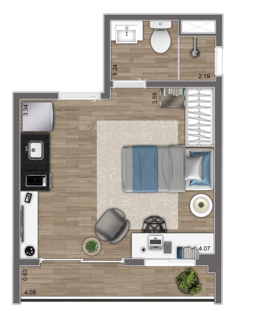 Studio - 22,92m² - Final 1