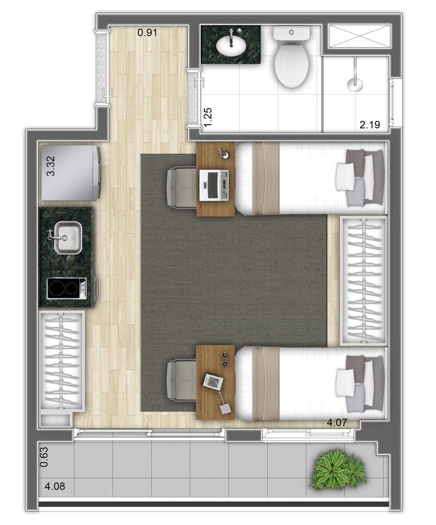 Studio - 23,55m² - Final 12
