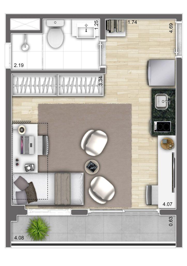 Studio - 24,61m² - Final 2