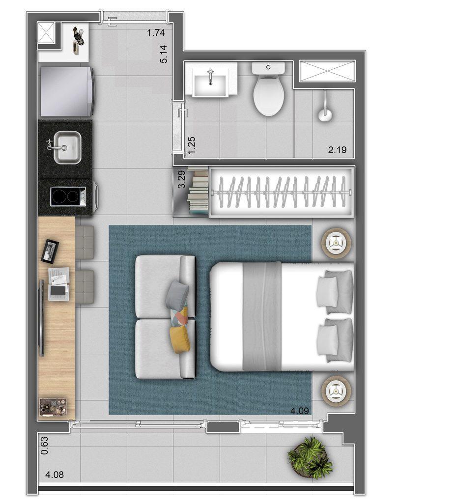 Studio - 25,18m² - Final 16