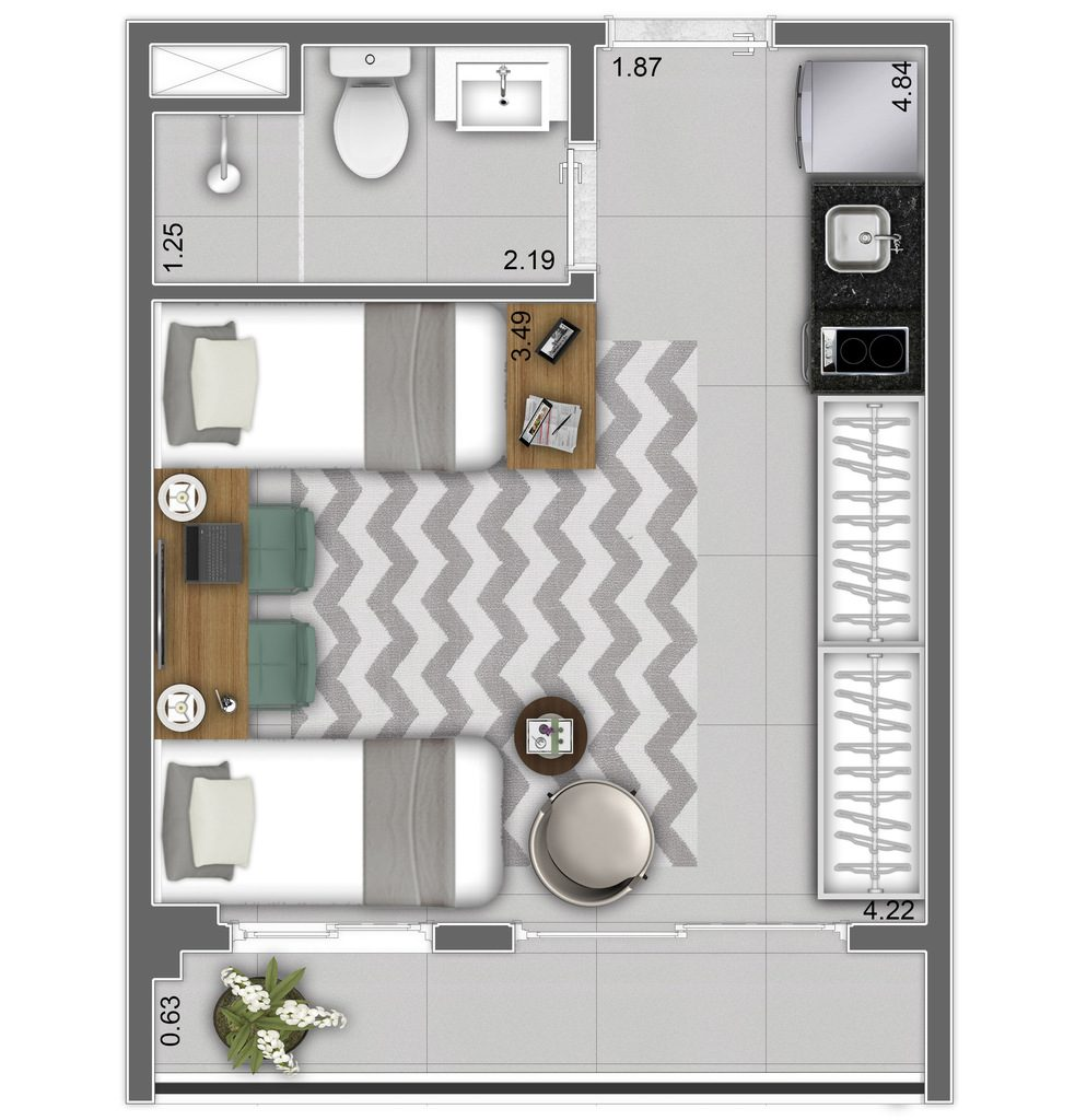 Studio - 26,12m² - Final 3
