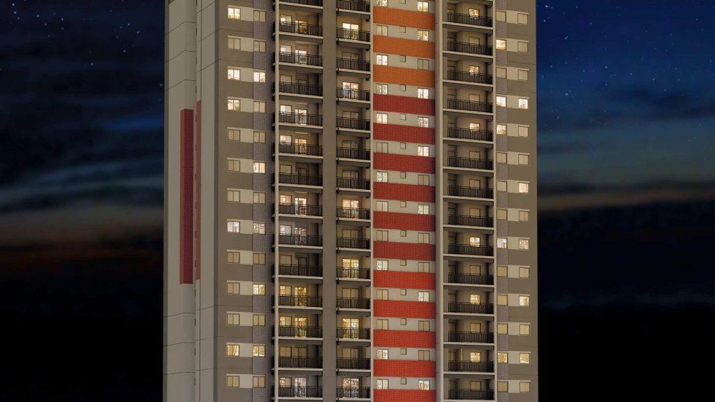fachada noturna