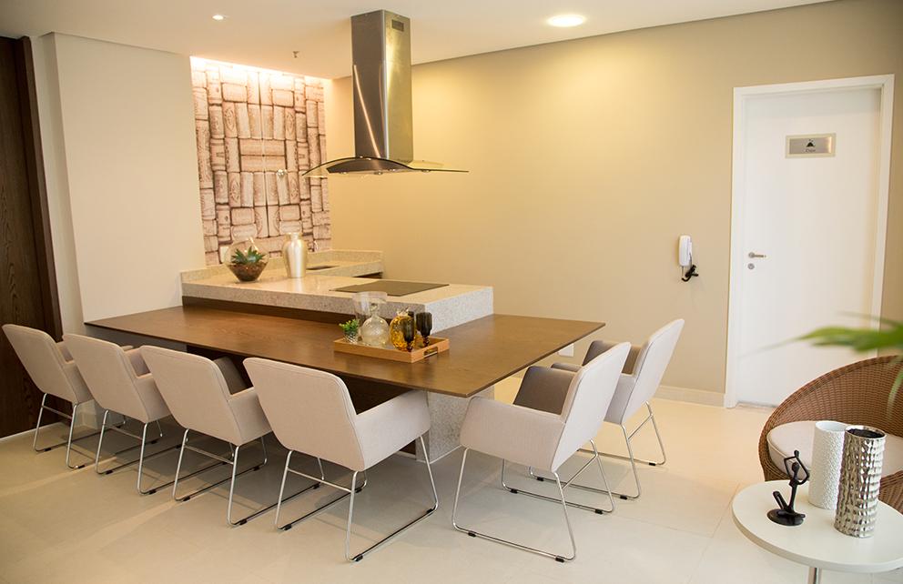 Salão de festa com espaço gourmet – ambiente 1