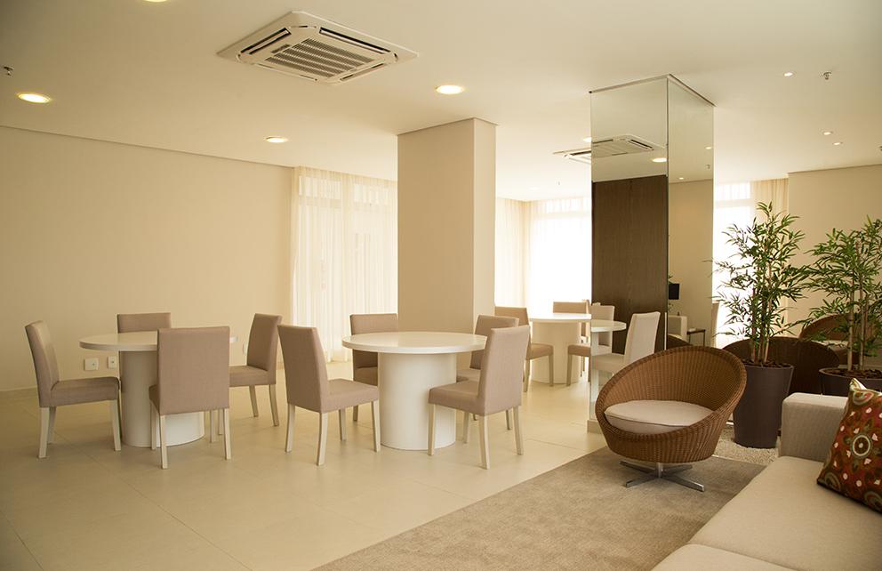 Salão de festas com espaço gourmet – ambiente 2