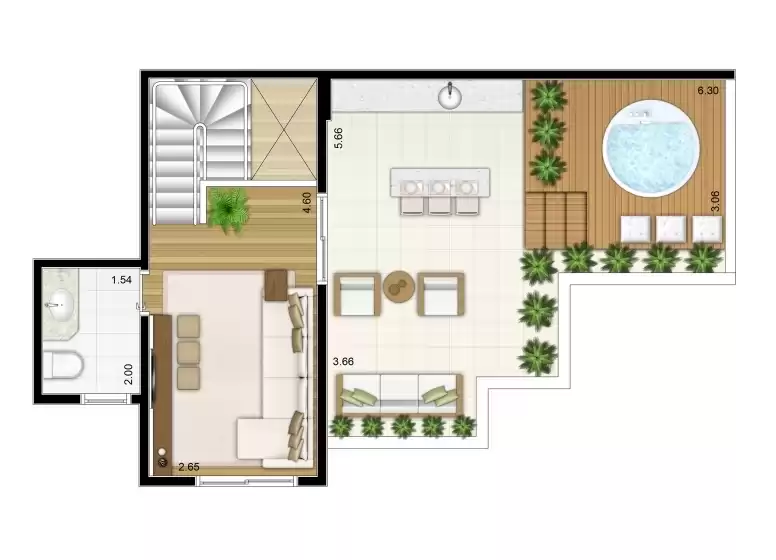 Duplex Superior 109m²