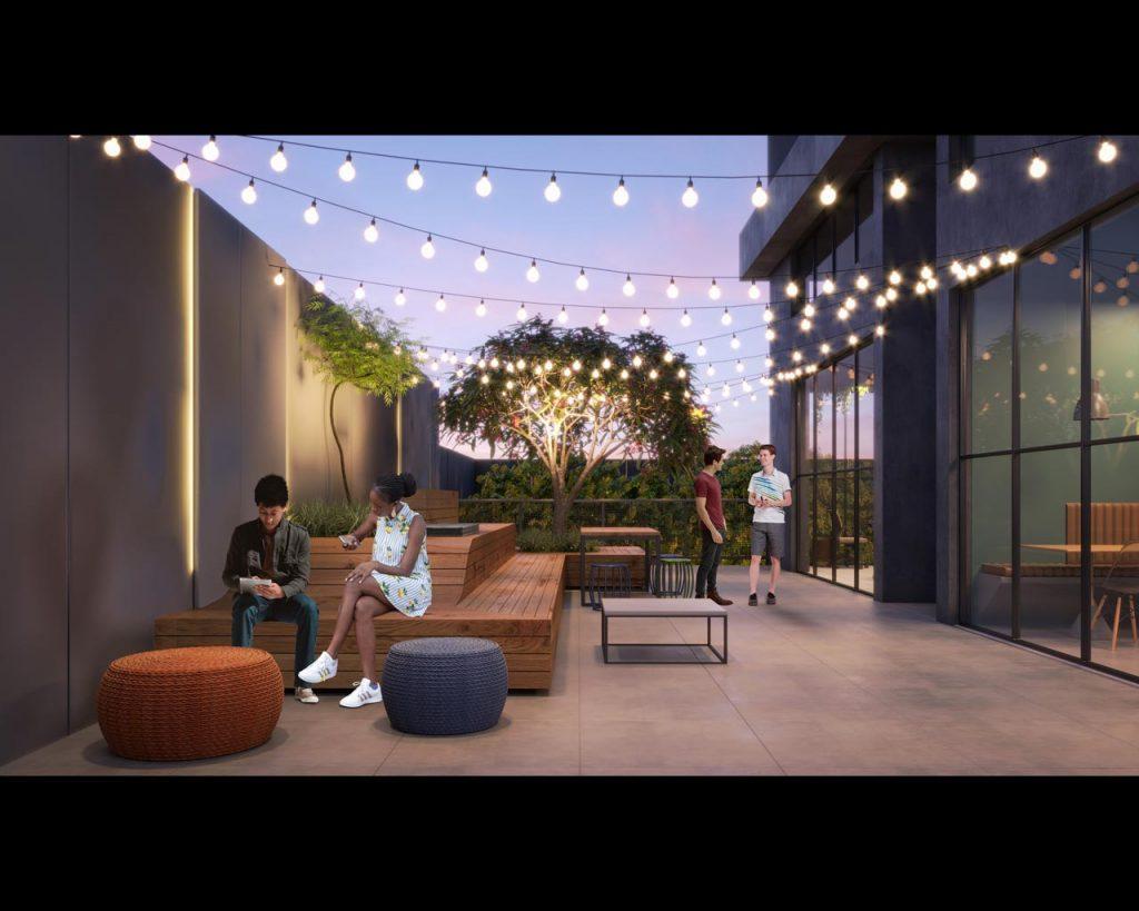 Lounge terraço residencial