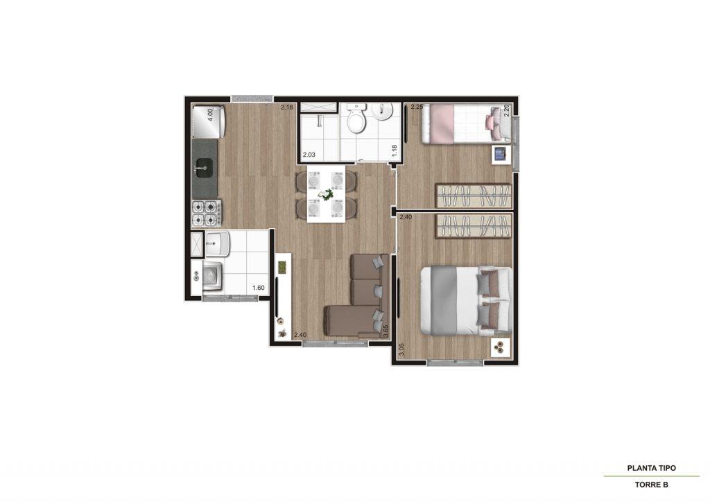 Planta 35m² - Final 2 e 9