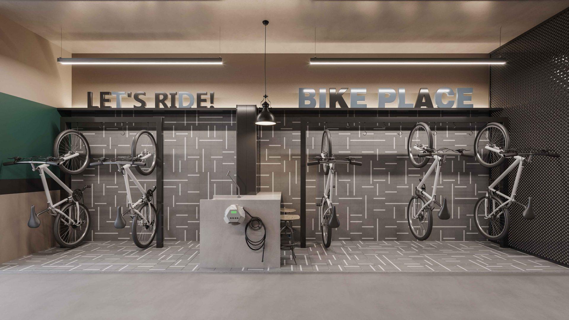 Bicicletário Pespectiva Ilustrada