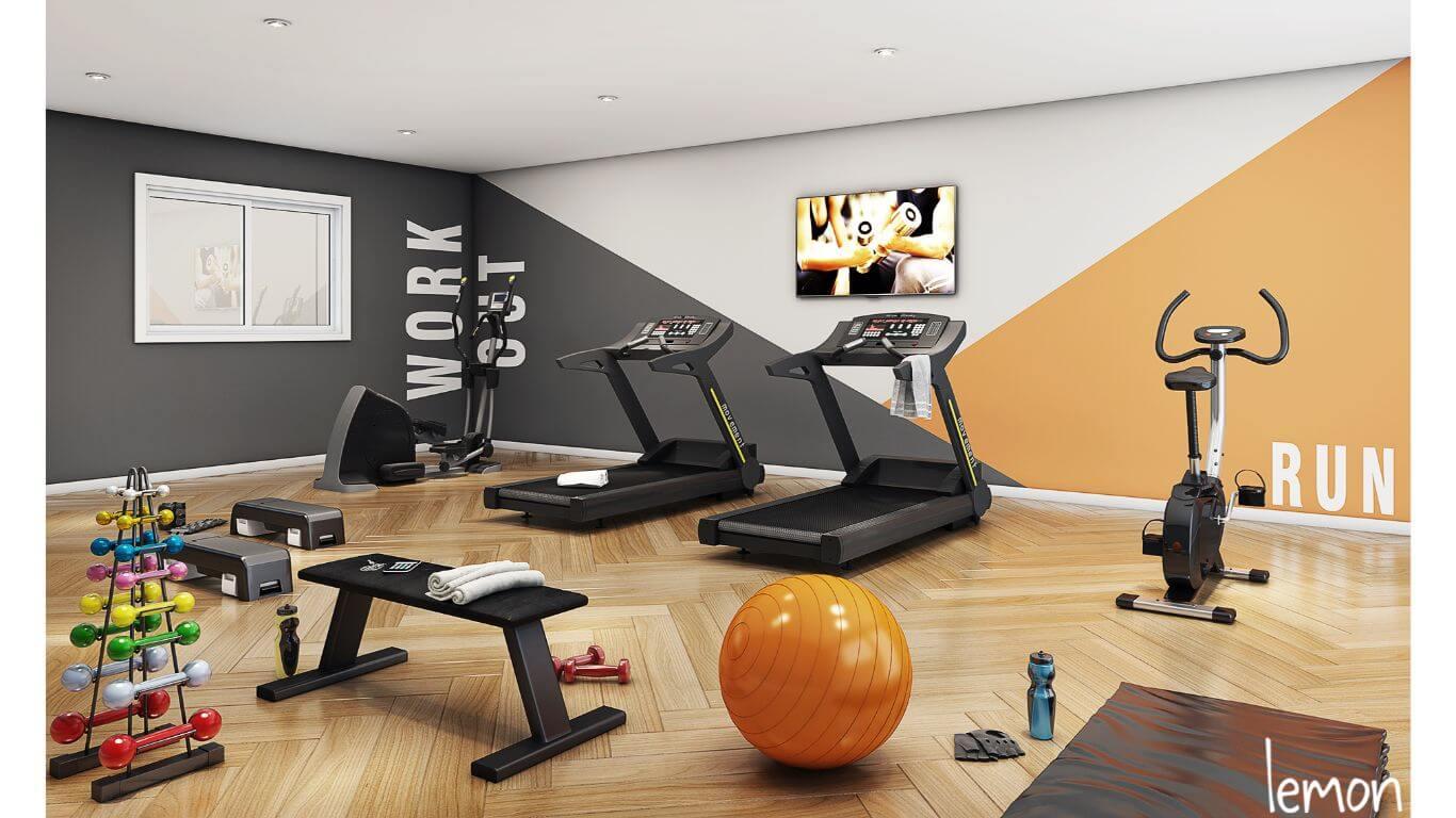 Perspectiva Ilustrada da Área Fitness