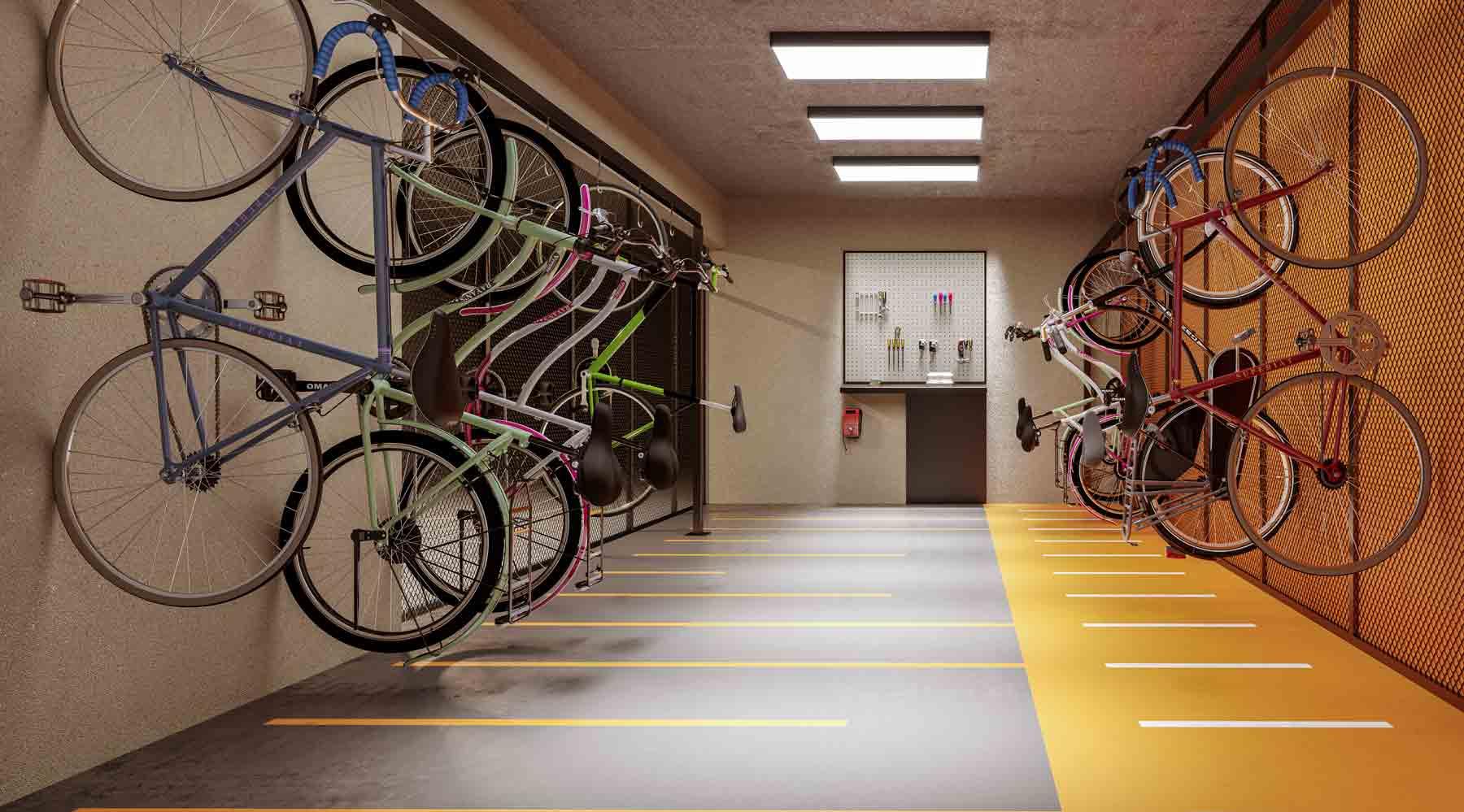 Bicicletário – Perspectiva Ilustrada