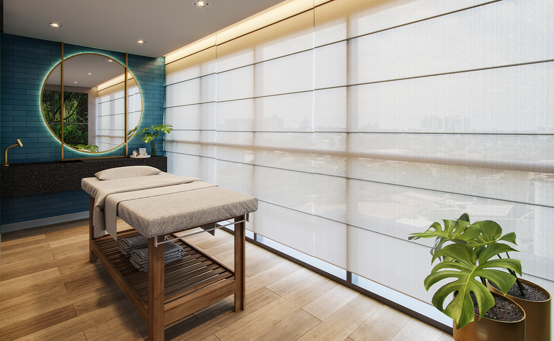 Sala de Massagem Perspectiva Ilustrada