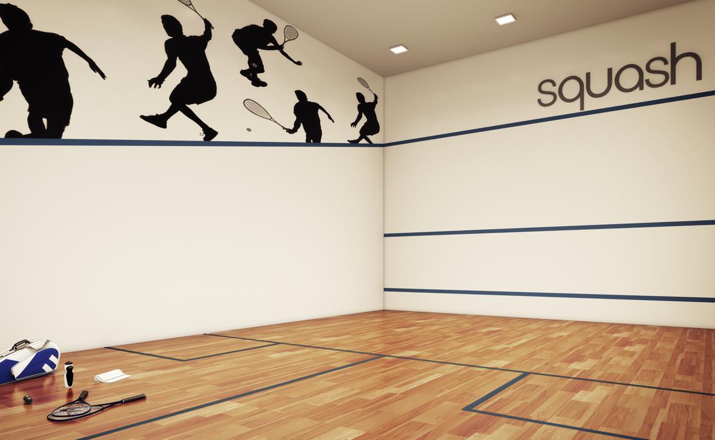 Quadra de Squash Perspectiva Ilustrada