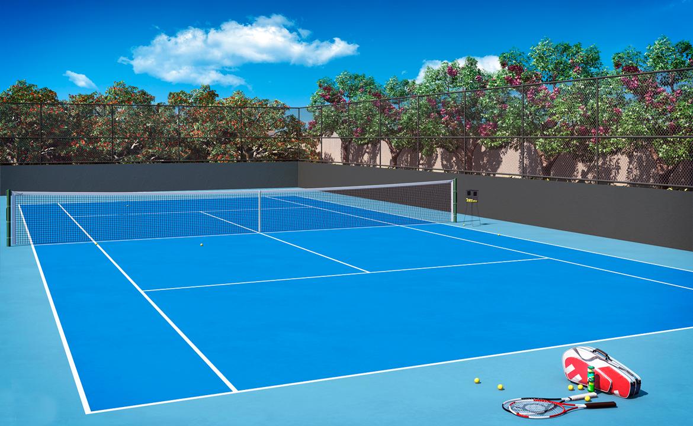 Quadra de Tênis Perspectiva Ilustrada