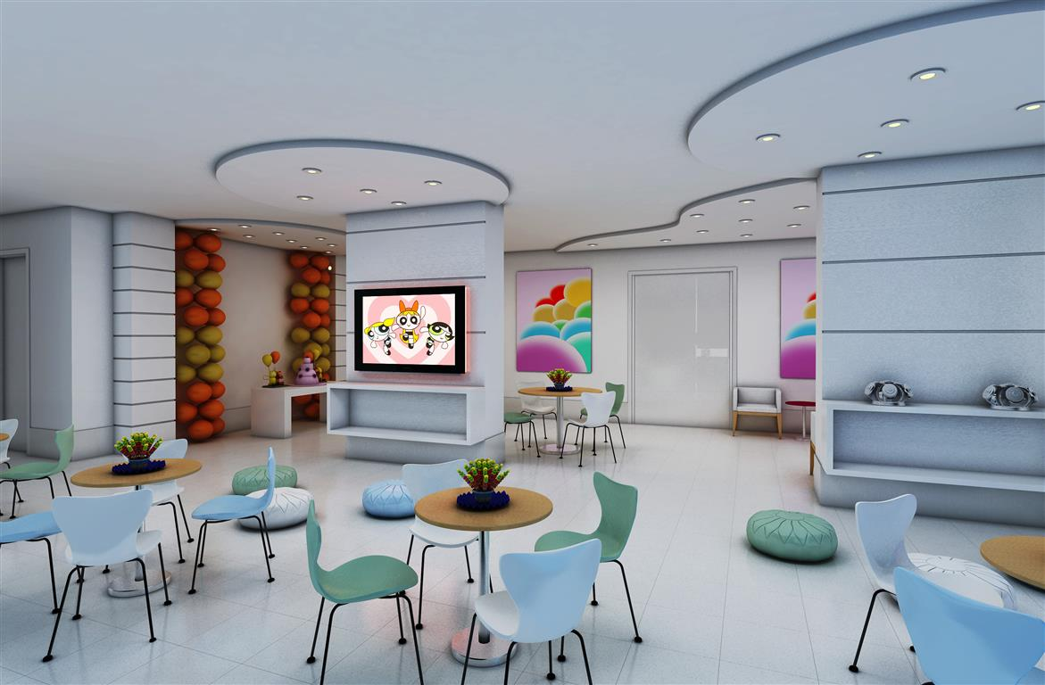 Salão de Festas Infantil Perspectiva Ilustrada