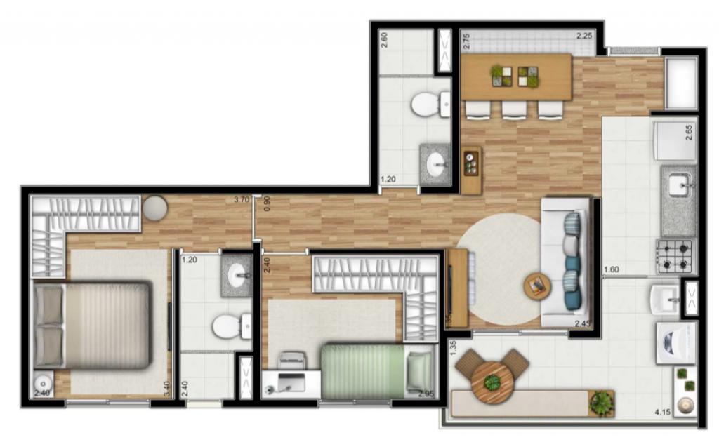 2 dorms (suite)