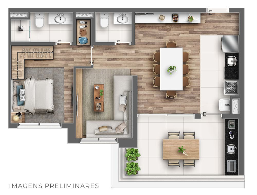 68m² - Personal