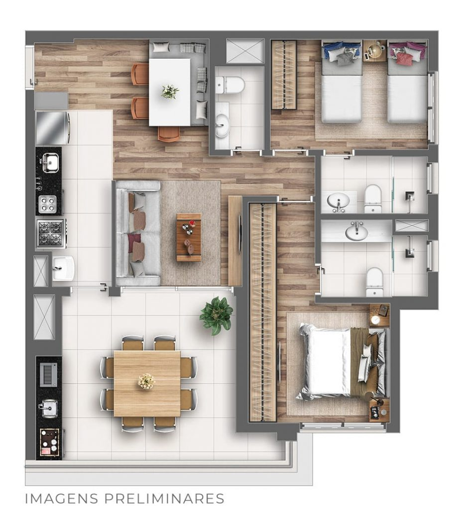 85m² - Tipo