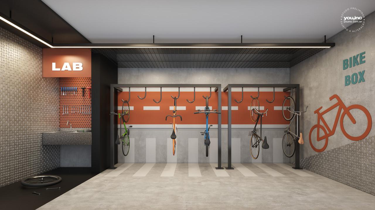 Bicicletario Perspectiva Ilustrada