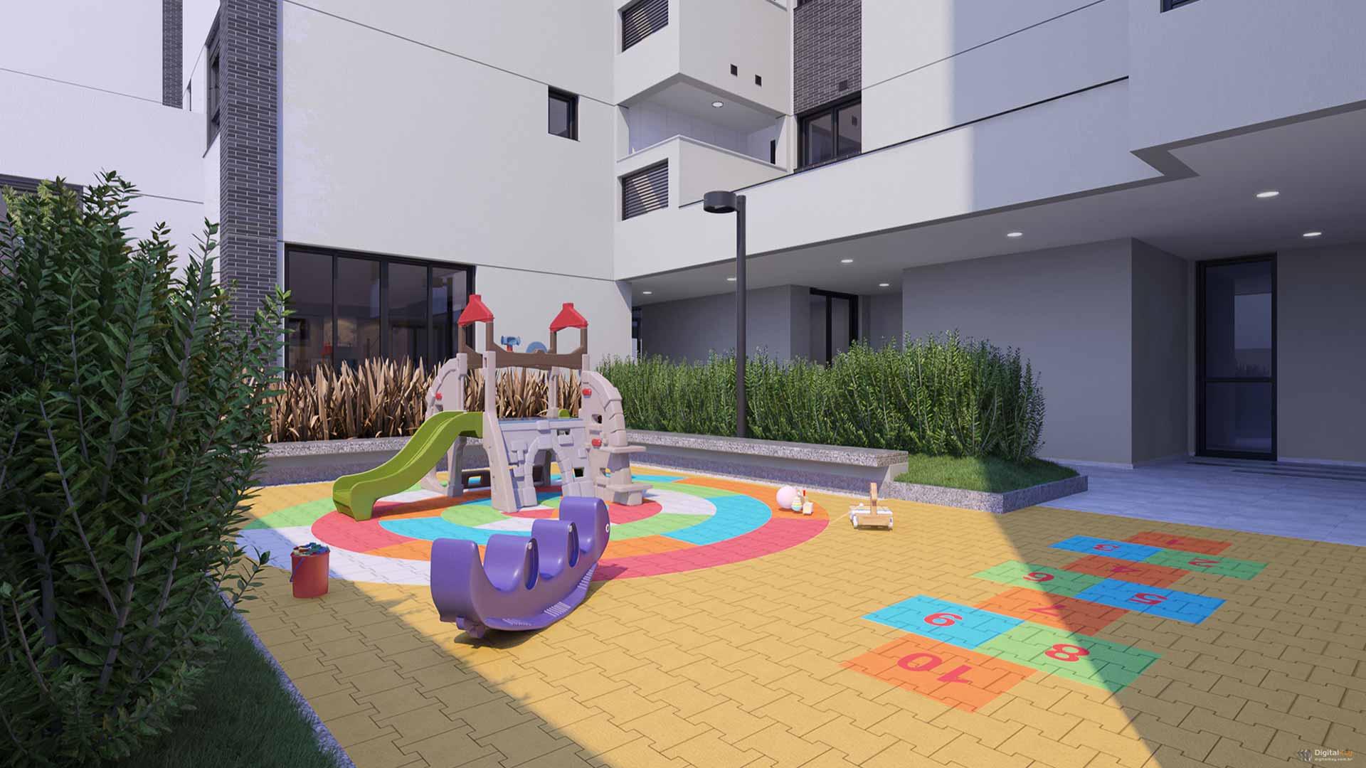 Playground Perspectiva Ilustrada
