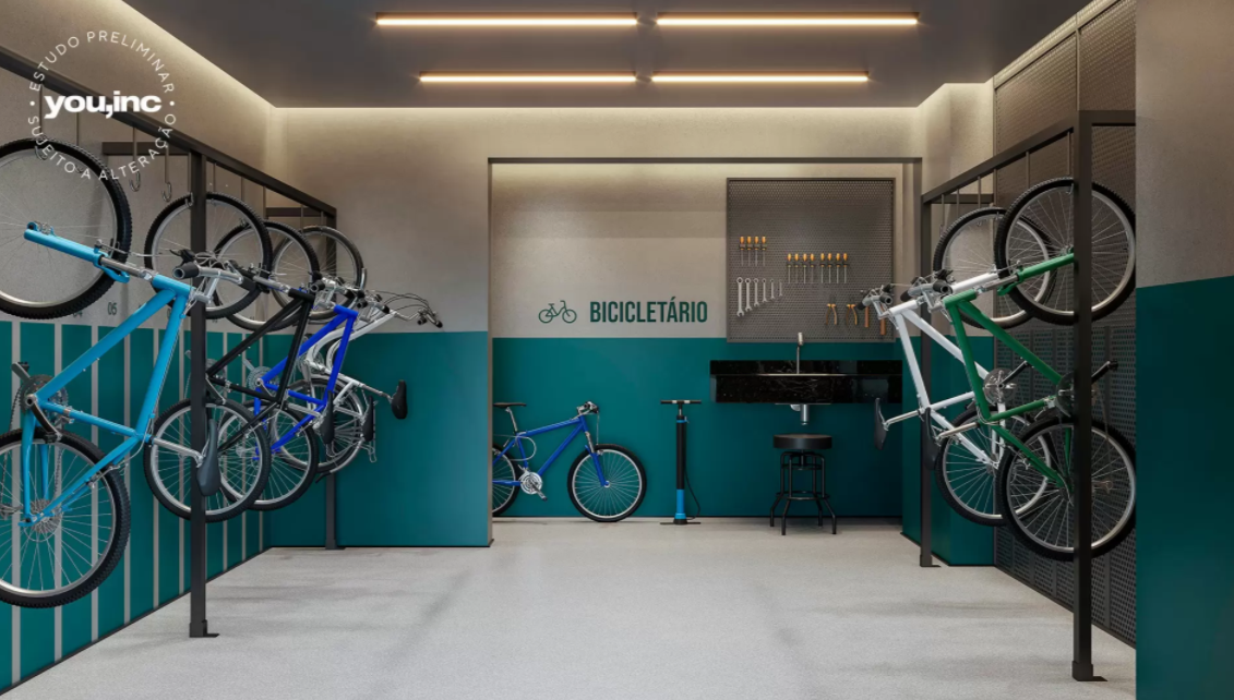Bicicletário Perspectiva Ilustrada